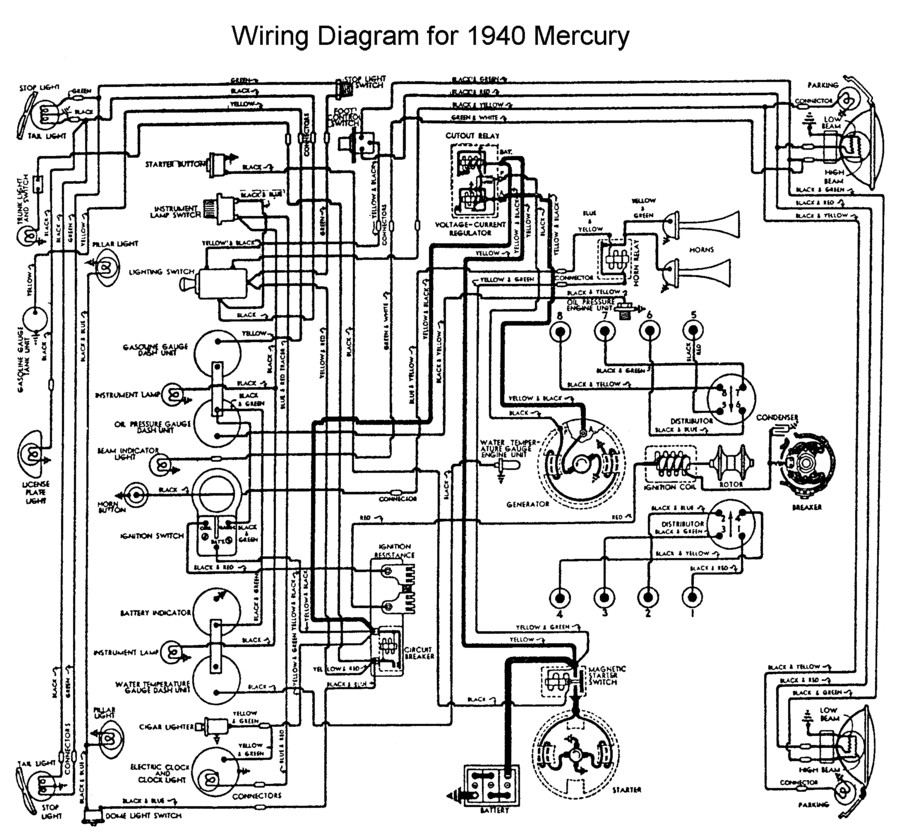 mercury gauge wiring diagram