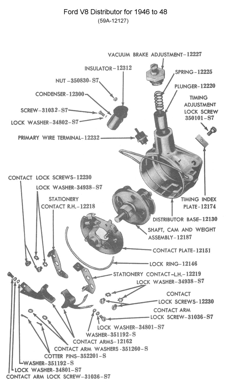 1948 Farmall H Wiring Diagram also Dist Cap Rotor Replace Question 73870 additionally Dodge Alternator Wiring Diagram additionally Flathead drawings engines together with Flathead drawings electrical. on 1941 ford distributor diagram