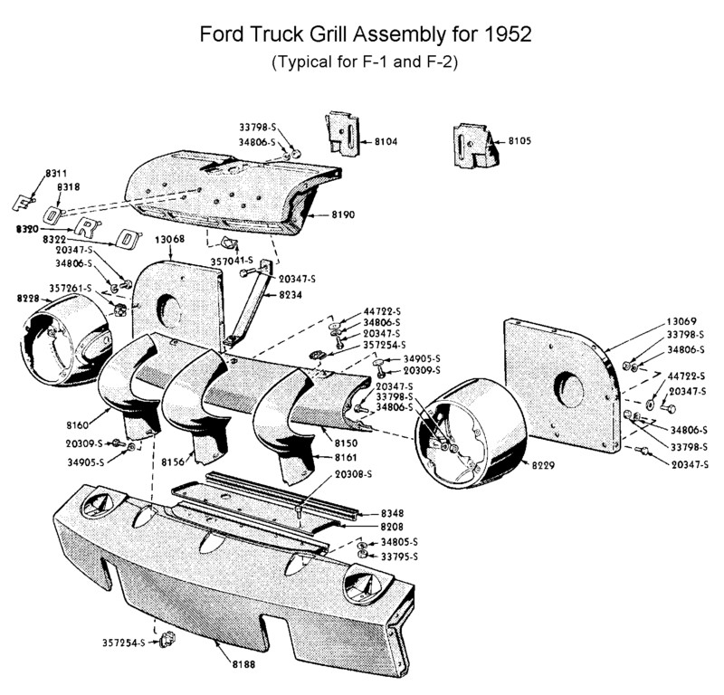 Flathead_grill-52_F1truck  Ford Truck Wiring Diagram on 1952 ford truck brochure, ford explorer electrical diagram, 1952 ford truck installation, ford f 450 electrical diagram, 1952 ford 8n tractor manual, 1952 ford truck heater, 1952 ford truck brakes, 1952 international engine diagram, 1952 ford truck wheels, 1954 ford headlight switch diagram, 1952 ford truck clock, 1952 ford truck frame, 1952 ford truck generator, ford truck engine diagram, 1952 ford truck engine swap, 1952 ford truck body, 1952 ford truck parts, 1952 ford truck starting issues, 1952 ford truck bed, 1952 ford truck horn,